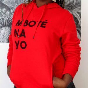 sweat bio rouge Mboté Na Yo